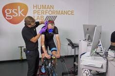 Chris Froome visited the GSK Human Performance Laboratory to undergo physiological testing after his Tour de France win, and it looked hard work