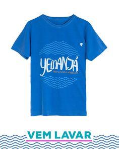 Vem lavar a fé de toda família Rainha! T-shirt Masculina. #2defevereiro #yemanjá