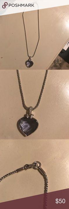 Gorgeous purple Swarovski heart necklace Gorgeous deep purple Swarovski heart necklace Swarovski Jewelry Necklaces