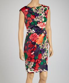 Take a look at this Red Light Floral Dress by Ivy and Blu Maggy Boutique on #zulily today!