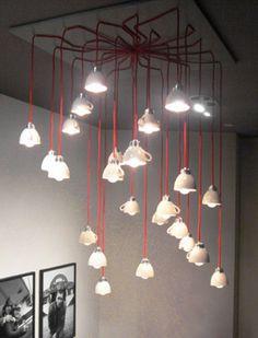 Cuplight chandelier at De Kleine Komedie Theatre by Lucas en Lucas * Eco Deco * The Inner Interiorista