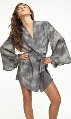 Ash Tie Dye Kimono