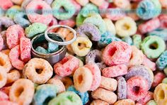 Fun photo idea... And fun cereals would also be a good idea to offer for any children attending the reception.