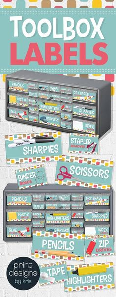 Upgrade your teacher toolbox with this stylish set of labels to keep you organized while also decorating your classroom. Upgrade your teacher toolbox with this stylish set of labels to keep you organized while also decorating your classroom. Back To School Organization, Classroom Organisation, Teacher Organization, Classroom Management, Organization Ideas, Organized Teacher, Classroom Solutions, Classroom Setup, Classroom Design