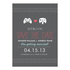 Controller Love Save the Dates // by Origami Prints #for #geeks #nerds #wedding…