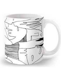 Society6 Faces Mug 11 oz ❤ Society6