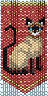 Beaded cat flat peyote pendant - photo only Bead Loom Bracelets, Beaded Bracelet Patterns, Peyote Patterns, Loom Patterns, Beading Patterns, Stitch Crochet, Seed Bead Flowers, Motifs Perler, Beaded Banners