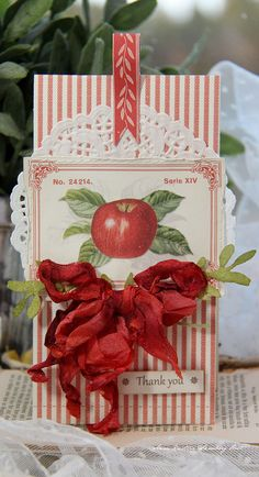 Hi everyone, today I have a small card to show you...I have uses papers from the new collection Siri's Kitchen.Love this cute image with a red apple.Wish you a great day :)Anne KristinePion products:Siri's Kitchen – Geranium PD5304Siri's Kitchen – Labels PD5309Siri's…
