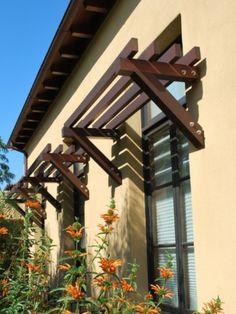 Mini pergola over window. For windows over deck?