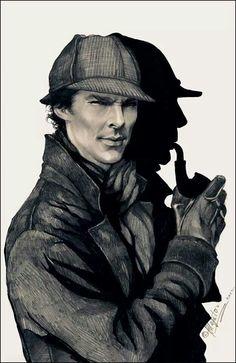 Sherlock Holmes.  #fanart #theartsmatter
