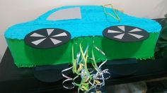 Automobile 2-sided pinata. 40*60 cm. Pull string.  Please find all of my handmade pinata at: https://www.facebook.com/BudetVeselo/photos/?tab=album&album_id=1499624303687333
