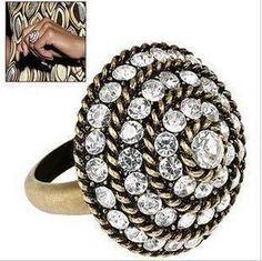 rhinestone adjustable ring  $7