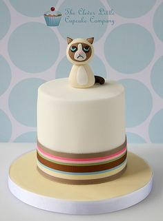 Grumpy Cat Mini Cake | Flickr - Photo Sharing!