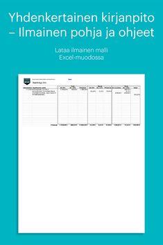 Ammatinharjoittaja voi pitää tapahtumista yhdenkertaista kirjanpitoa monimutkaisemman kahdenkertaisen kirjanpidon sijaan. Yhdenkertaiseen kirjanpitoon kirjataan tulot, menot, korot ja verot ja oma käyttö. #zervant #lasku #laskutus #malli #kirjanpito