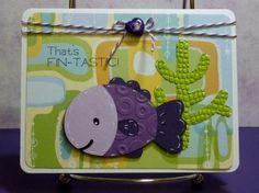 Cricut Fin-tastic Card. Create A Critter Cartridge.  *