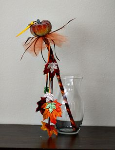 DIY Fall Fairywand Centerpiece Crafting Project