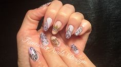 I'm in love with lilac, love these. #nailtech, #nailart, #naildesign, #colorgel, #crowns, #lace, #nailcaviar