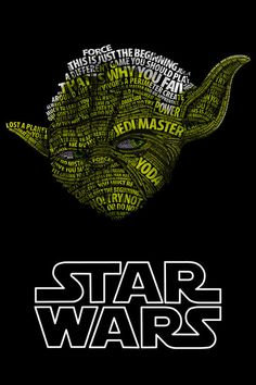 Star Wars portraits series illustrated with typo by Vladislav Poliakov. More Star Wars portraits series illustrated with typo here. Star Wars Film, Star Wars Poster, Theme Star Wars, Nave Star Wars, Star Wars Art, Cool Typography, Typography Poster, Typography Books, Typography Portrait