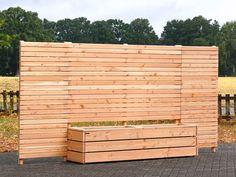 Sichtschutz Lang - Pflanzkasten mit Sichtschutz, aus Holz