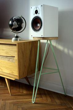 Speaker stand idea - bar chair.