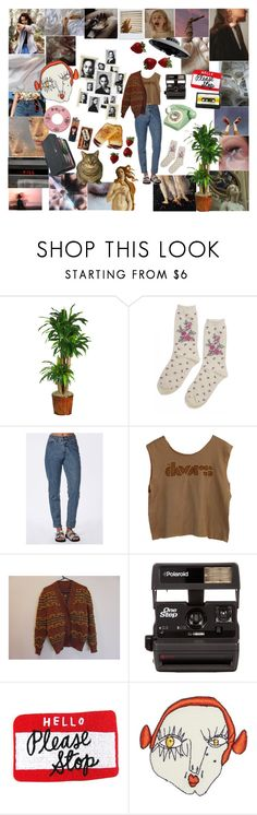"""""""Fazed"""" by laurentheghostgirl ❤ liked on Polyvore featuring GET LOST, Dreamgirl, Poesia, Nearly Natural, Case Logic, Urban Outfitters, Missguided, Polaroid and Shrimps"""