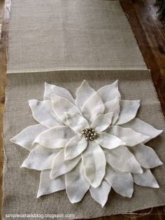 Simple Details: pottery barn knock off pillows... poinsettia for Christmas