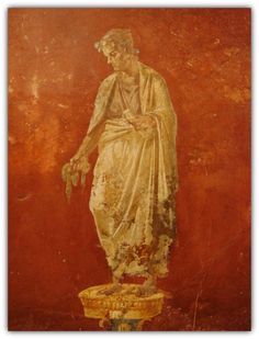 Character from the comedy of the period of Nero. Ancient Roman frescos (64 AD) from Pompeii, Italy. | wikimedia.org