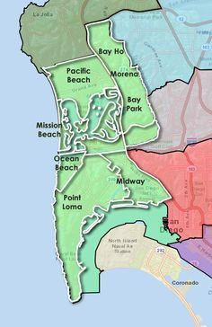 map of san diego zip codes this will be helpful i\'m sure | Places to ...
