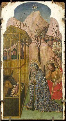 GIOVANNI FRANCESCO DA RIMINI - Natività di Gesù  - 1445 - Museo del Louvre