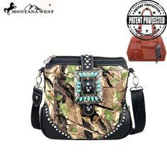 HF05G-8295 Montana West Camouflage Concealed Handgun Collection Messenger Bag
