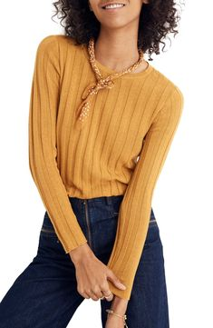 Madewell's Cozy Fall Sweaters Are Perfect For Work and Weekends Ribbed Top, Ribbed Sweater, Pullover Sweaters, Jumper, Fall Sweaters, Winter Wardrobe, Best Brand, Madewell, Nordstrom