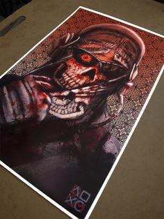 Zombie Ghost (Call of Duty Modern Warfare 2) Special Edition Fan Art Poster