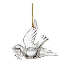 "Marquis by Waterford Crystal - Dove Christmas Ornament 3""H - 024258389502 - NIB - $29.95"