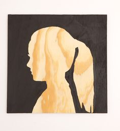 DIY silhouette on plywood. I like this twist on a silhouette from @Lowes.