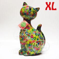 Pomme Pidou Katze Caramel XL hellgrün Blumen