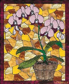 Vitrail orchidés