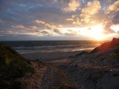 Sundown at the beach, Hvide Sande