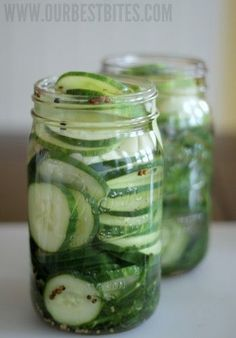 AMAZING refrigerator pickles from Our Best Bites.