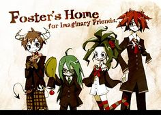 Foster's Home for Imaginary Friends, Coco (Foster), Eduardo, Wilt, Bloo (Foster's Home For Imaginary Friends