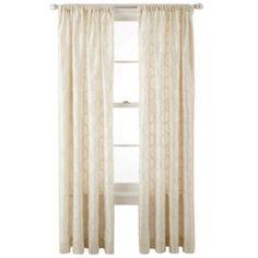 Royal Velvet® Geneva Rod-Pocket Curtain Panel - JCPenney