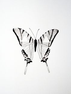 Watercolor Butterfly - Original - Black - White - Gray - Geometric - Triangle Butterfly Tattoo Cover Up, Butterfly Tattoo On Shoulder, Butterfly Tattoos For Women, Butterfly Tattoo Designs, Black Tattoos, Small Tattoos, Butterfly Watercolor, Watercolor Ideas, Watercolor Painting