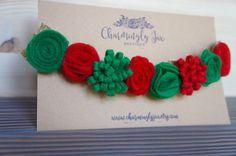 Navidad flor de corona corona de flores rojo y verde cinta