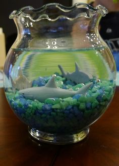Shark center piece for PJ's 7th Birthday