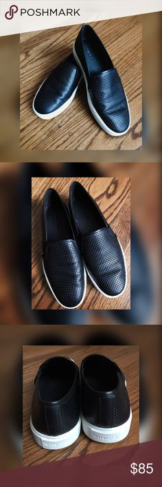 Vince Blair Slip on Sneakers Casual, Vince Blair sneakers// Inset elastic panels for comfortable fit. Leather-lined at heel and toe. Rubber sole.. used // Sign of wear but still In Great Condition Vince Shoes Sneakers