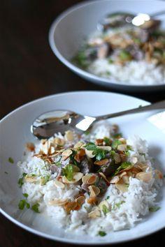 Braised Lamb in Garlic Yogurt Sauce with Toasted Nuts and Coriander (Shakriya) | Wandering Spice