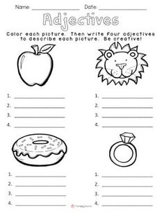 Today I& going to share with you one of my favorite lessons to teach!It& the HOOK I use to begin our unit on adjectives.I gather my kiddos on the carpet, and show them my brown paper bag. 2nd Grade Grammar, 2nd Grade Ela, First Grade Writing, First Grade Reading, Grade 1, Second Grade, Kindergarten Writing, Teaching Writing, Student Teaching