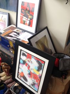 Freshly framed limited editions - Studio space - Providence North Gallery / Atelier, Providence, Rhode Island