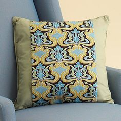Fabric band around solid pillow...great way to change up your decor without having to buy all new pillows.