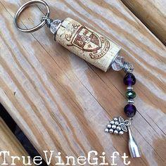 Chateau Elon Wine Cork Key Chain $15 on Etsy