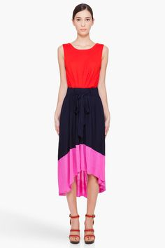 Marc By Marc Jacobs Phoebe Colorblock Jersey Dress